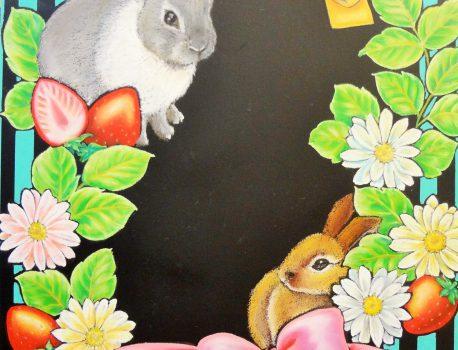 ウサギとイチゴ