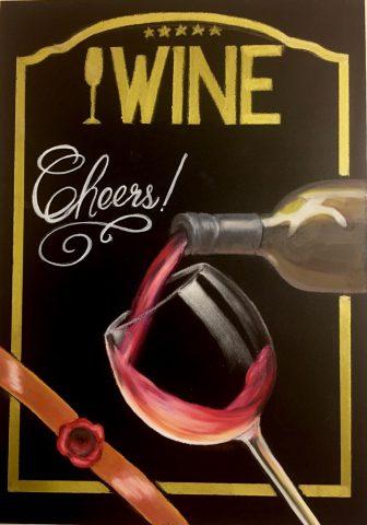 チョークアート ワイン