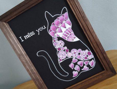 5月セミナー『タングルアートのピンク猫』